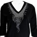Silver Cascade 3/4 Sleeve V-Neck Shirt