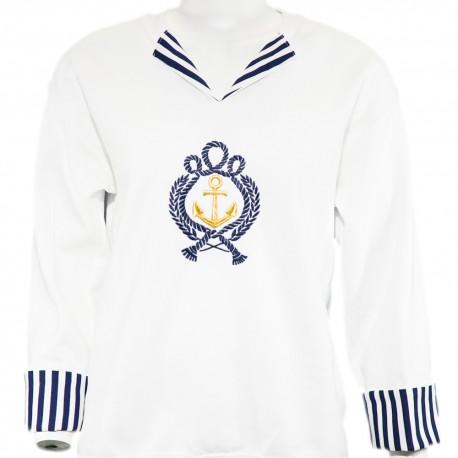 Nautical Anchor Collar Sweatshirt