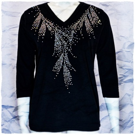 Translucent Mist 3/4 Sleeve V-Neck Shirt